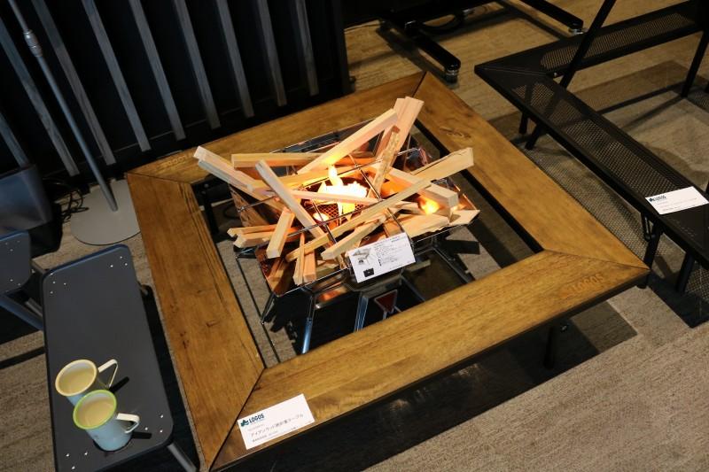 テーブル ロゴス 囲炉裏